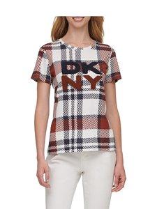 Dkny - Plaid Texture Logo -paita - NAVY IVORY RUSSET | Stockmann