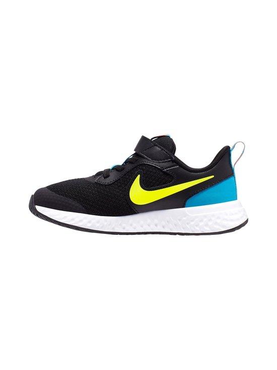 Nike - Revolution 5 -sneakerit - 076 BLACK/LEMON VENOM-LASER BLUE | Stockmann - photo 1
