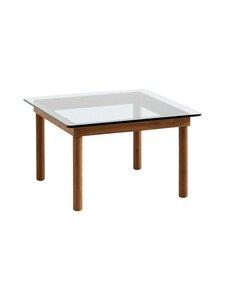 HAY - Kofi-pöytä 60 x 60 cm - WALNUT / CLEAR GLASS | Stockmann