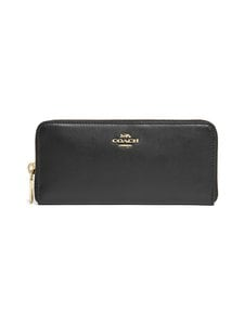 Coach - Accordion Zip -nahkalompakko - GD/BLACK - GDBLK | Stockmann