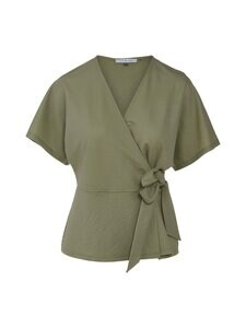 cut & pret - Tessa Wrap Jersey Top cut -paita - KHAKI | Stockmann