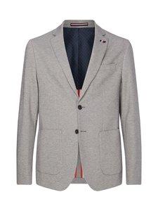 Tommy Hilfiger Tailored - TH Flex Slim Fit Jersey Blazer -bleiseri - P9W CHARCOAL GREY MELANGE | Stockmann