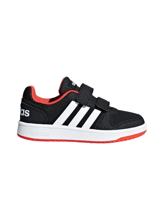 adidas Performance - Hoops 2.0 -kengät - CORE BLACK / CLOUD WHITE / HI-RES RED | Stockmann - photo 1