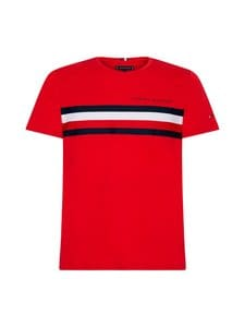 Tommy Hilfiger - Global Stripe Tee -paita - XLG PRIMARY RED | Stockmann