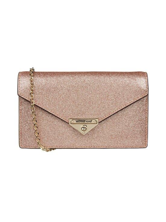 Michael Michael Kors - Grace Medium Glittered Leather Envelope Clutch -laukku - 674 ROSE GOLD   Stockmann - photo 1