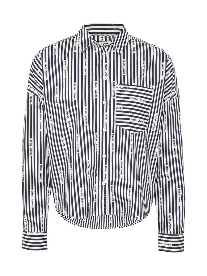 TJW Repeat Logo Stripe Cropped Fit -pusero