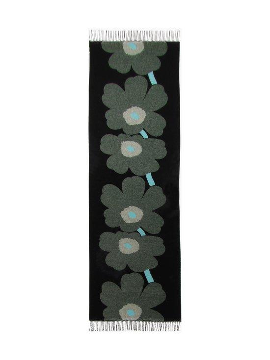 Marimekko - Salina Jacquard Unikko -huivi - 961 BLACK, DARK GREEN, TURQUOISE | Stockmann - photo 2