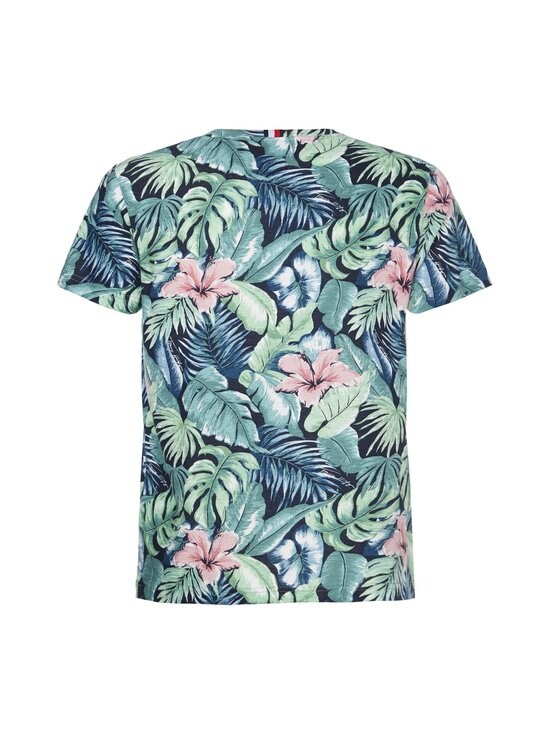 Tommy Hilfiger - All Over Flower Print Tee -paita - 0H7 GREEN BAY/MULTI   Stockmann - photo 2