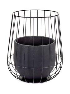Serax - Pot in a Cage -ruukku 37 x 46 cm - MUSTA | Stockmann