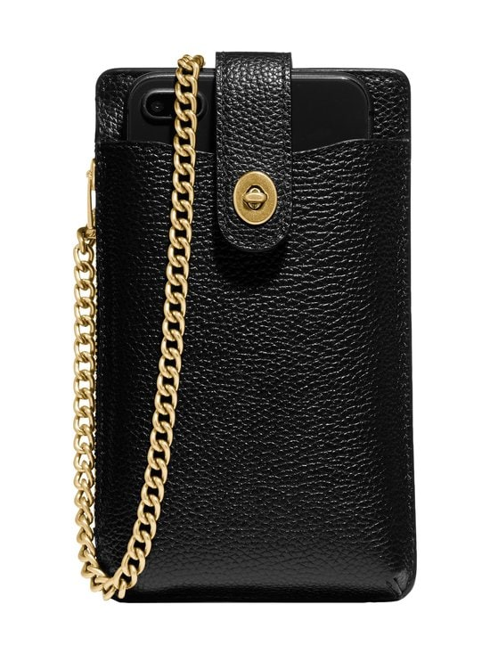 Coach - Turnlock Chain Phone Crossbody -nahkalaukku - B4/BLACK | Stockmann - photo 1