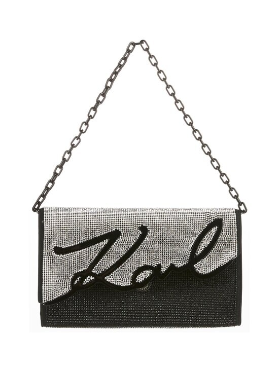 Karl Lagerfeld - K/Signature Baguette Sparkle -nahkalaukku - A987 BLACK/SILVER | Stockmann - photo 1