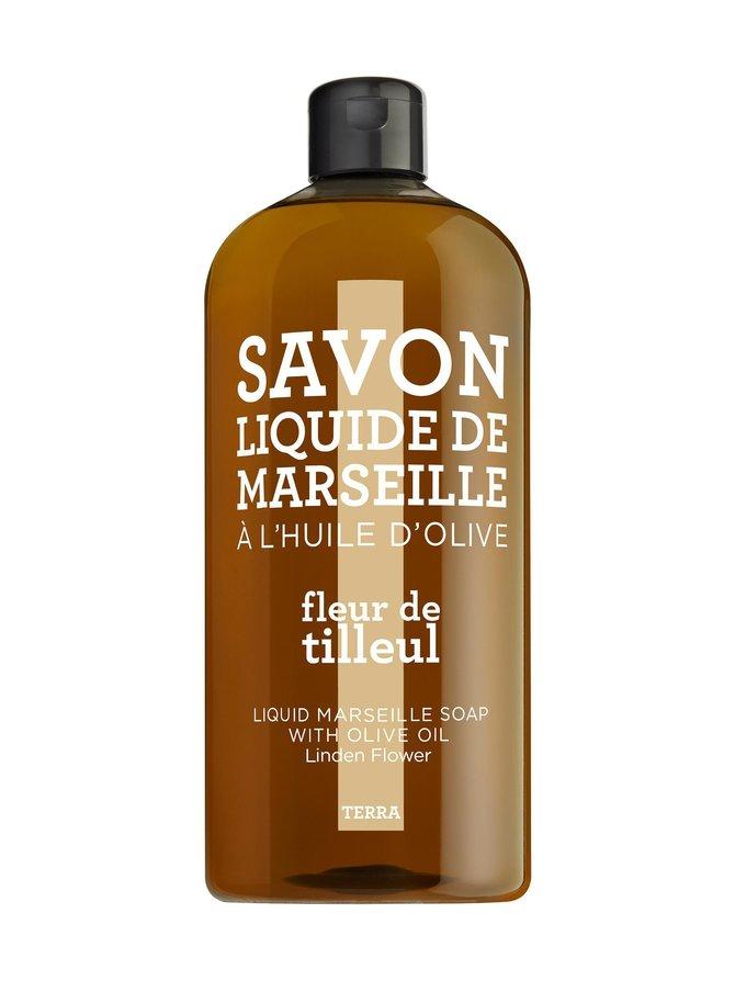 Linden Flower Liquid Marseille Soap -nestesaippua, täyttöpakkaus 1 l