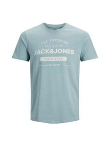 Jack & Jones - JjeJeans Tee SS Crew Neck -paita - FADED DENIM DETAIL:MELANGE SLIM | Stockmann