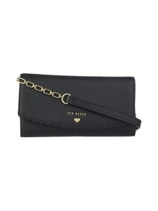 Ted Baker London - Safinna Scallop Purse On A Chain -nahkalaukku - 00 BLACK | Stockmann