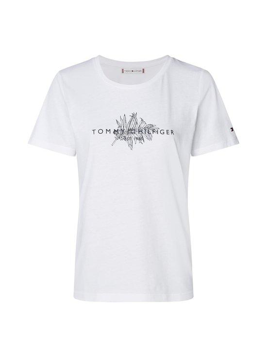 Leaf Print Organic Cotton T-Shirt -paita