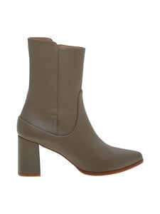 Flattered - Tove High Heal Boot -nahkanilkkurit - 011 GREY   Stockmann