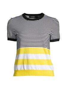 Lauren Ralph Lauren - Konsuelo Short Sleeve Sweater -neule - 002 PB/WHT/LR   Stockmann