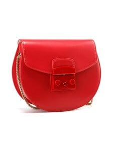 Furla - Metropolis Mini Crossbody Round -nahkalaukku - RUB00 RUBY | Stockmann