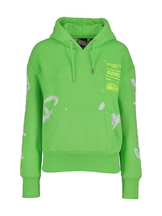 Superdry - Super 5 Deconstruct Hoodie -huppari - GIP NEON LIME | Stockmann - photo 1