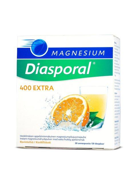 Diasporal Magnesium 400 Extra -annospussi 20 kpl