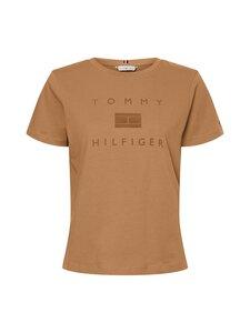 Tommy Hilfiger - REGULAR FLOCK T-paita - GW8 COUNTRYSIDE KHAKI | Stockmann