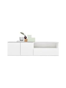 Lundia - Fuuga-tv-taso 48 x 52 x 192 cm - WHITE PAINTED MDF | Stockmann