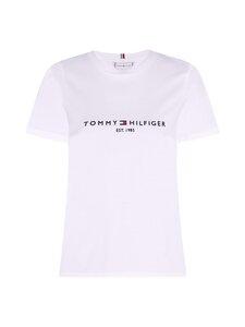 Tommy Hilfiger Curve - CRV REGULAR HILFIGER C-NK TEE  -paita - YBR WHITE   Stockmann