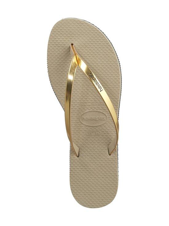 Havaianas - You Metallic Flip Flops -varvassandaalit - 2719 SAND GR/LT GOLD | Stockmann - photo 2