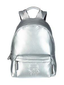 Karl Lagerfeld - K/Ikonik Nylon Medium Backpack Metallic -reppu - 290 SILVER   Stockmann