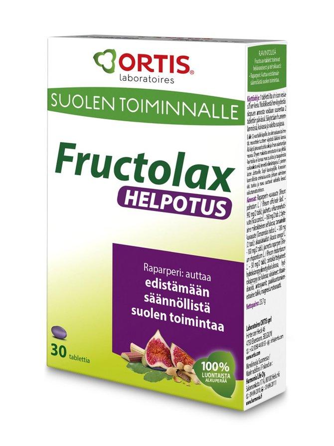 Fructolax Helpotus -hedelmä- ja kuitutabletti 30 kpl/23,7 g