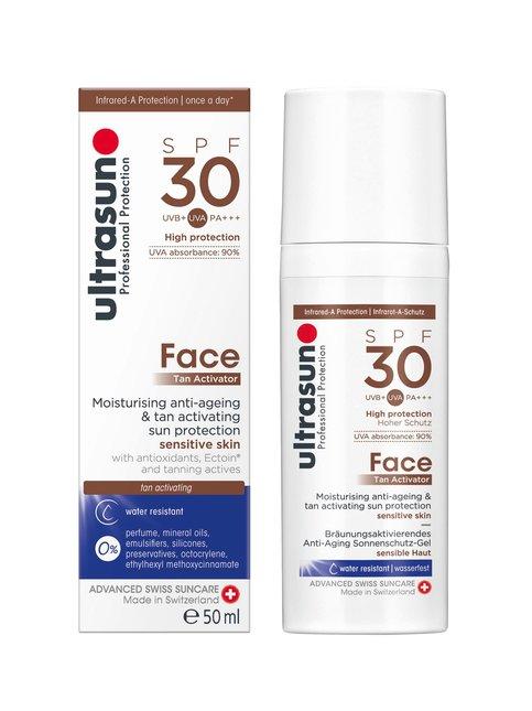 Face Tan Activator SPF 30 -aurinkosuojageeli kasvoille 50 ml