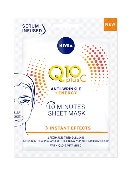 NIVEA - Q10plusC Anti-Wrinkle + Energy Sheet Mask -kasvonaamio 1 kpl - NOCOL | Stockmann - photo 1