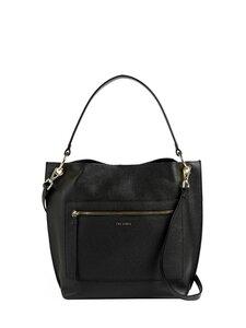 Ted Baker London - CAFRIN Zip Detail Hobo Bag -laukku - BLACK | Stockmann