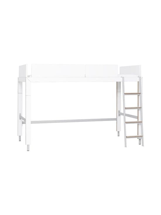 Lundia - Lofty-parvisänky 102,5 x 143 x 209,5 cm + patja - WHITE LAMINATE/BIRCH/GREY METAL | Stockmann - photo 1