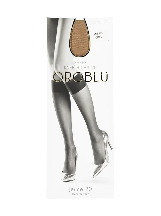 Oroblu - Jeune Sheer Knee-Highs 20 den -polvisukat - CAMEL | Stockmann - photo 1