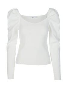 NA-KD - Light Knitted Puff Sleeve -paita - OFFWHITE | Stockmann