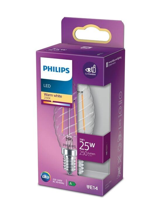 Philips - LED Candle 25W E14 Warm White -kynttilälamppu - WHITE | Stockmann - photo 1