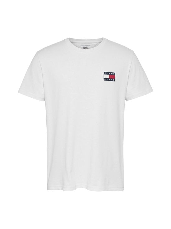 Tommy Jeans - Tommy Badge Organic Cotton T-Shirt -paita - YBR WHITE | Stockmann - photo 1