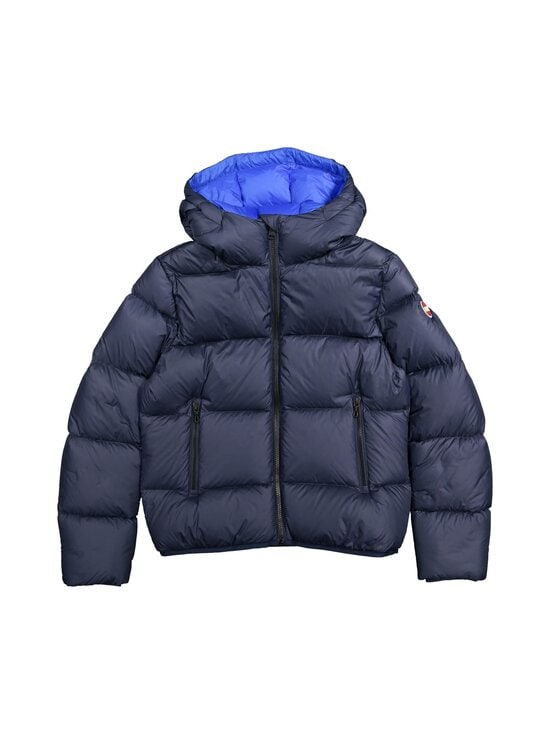 COLMAR - 5ST Short puffer down coat with hood COLMAR 99 BLACK-SPIKE 12 - 68 NAVY BLUE-BLUE CURACAO | Stockmann - photo 1