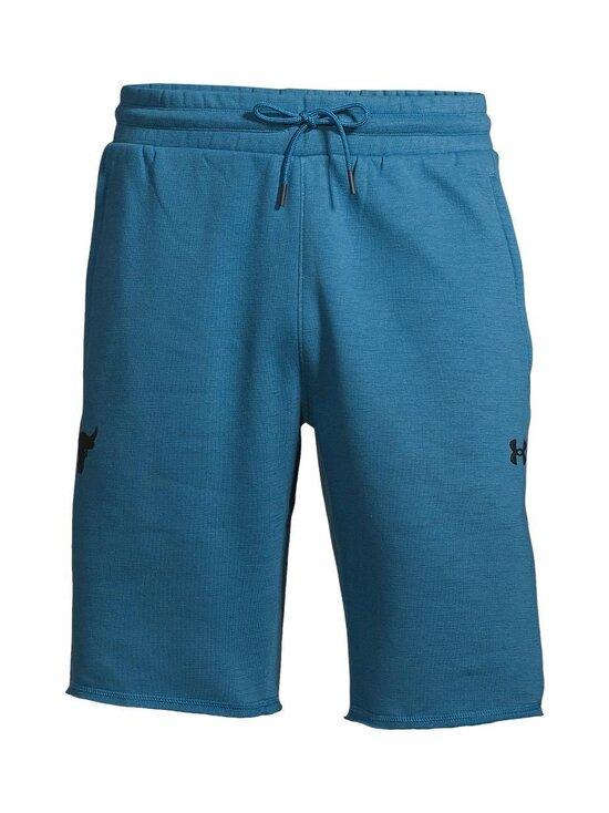 Under Armour - Project Rock Charged Cotton® Fleece Shorts -shortsit - 446 ACADIA / / BLACK   Stockmann - photo 1