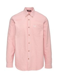 Fred Perry - Overdyed Shirt -kauluspaita - 457 SILVER PINK | Stockmann
