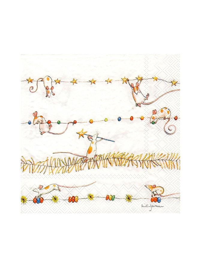 Mice Garland -servetti 25 x 25 cm
