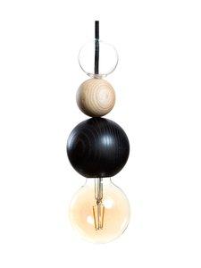 QUU Design - Large BNG -riippuvalaisin 9,5 x 25 cm - BLACK/NATURAL/GLASS | Stockmann