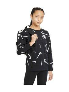Nike - PRINTED CREW -COLLEGEPAITA - 010 BLACK/WHITE | Stockmann