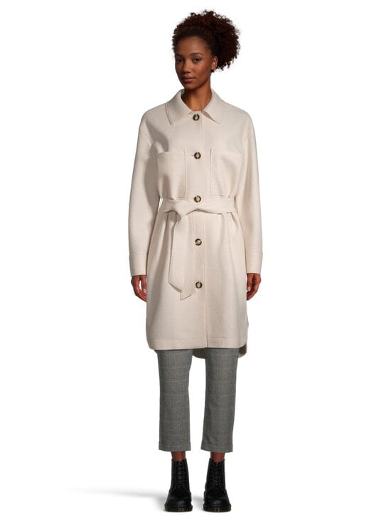 Marc O'Polo - Boiled wool shirt coat -takki - 132 NATURAL WHITE   Stockmann - photo 4
