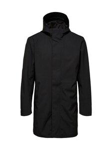 Selected - SlhMarshall Hood Tech Coat -takki - BLACK | Stockmann