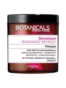 BOTANICALS - Rose & Geranium Radiance -hiusnaamio värjätyille hiuksille 200 ml | Stockmann