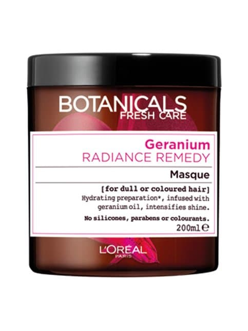 Geranium Radiance Remedy -hiusnaamio värjätyille hiuksille 200 ml