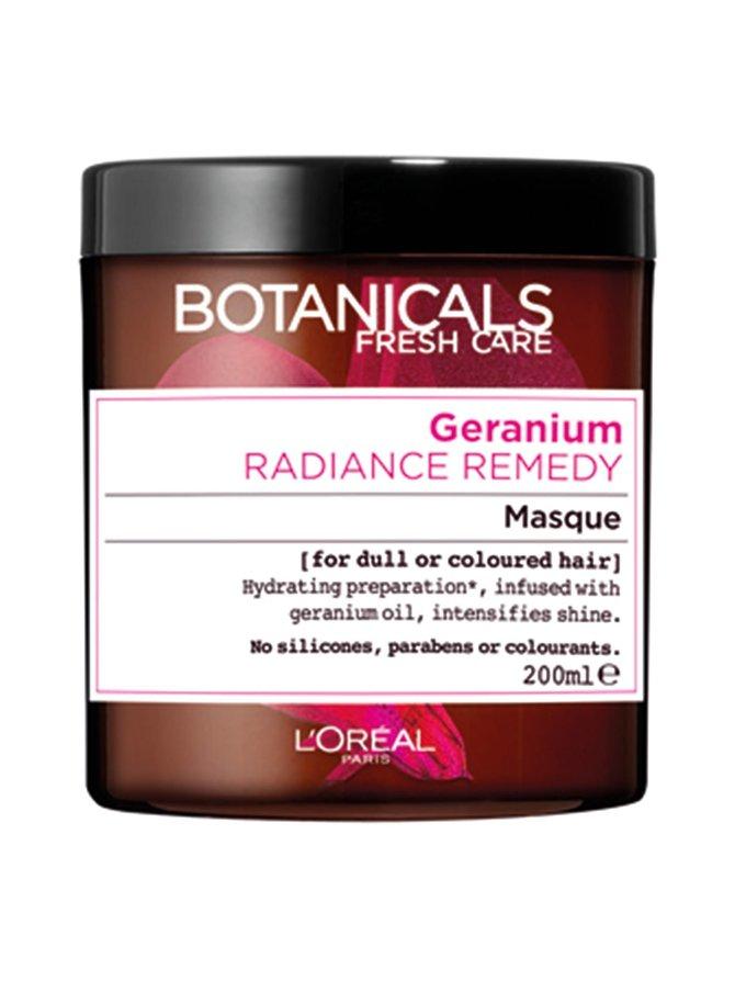 Rose & Geranium Radiance -hiusnaamio värjätyille hiuksille 200 ml
