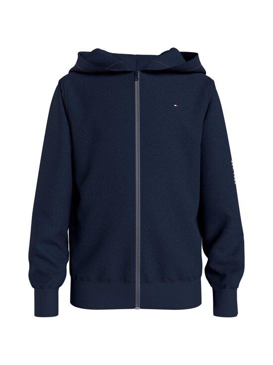 Tommy Hilfiger - Essential Hooded Zip Through -huppari - C87 TWILIGHT NAVY   Stockmann - photo 1